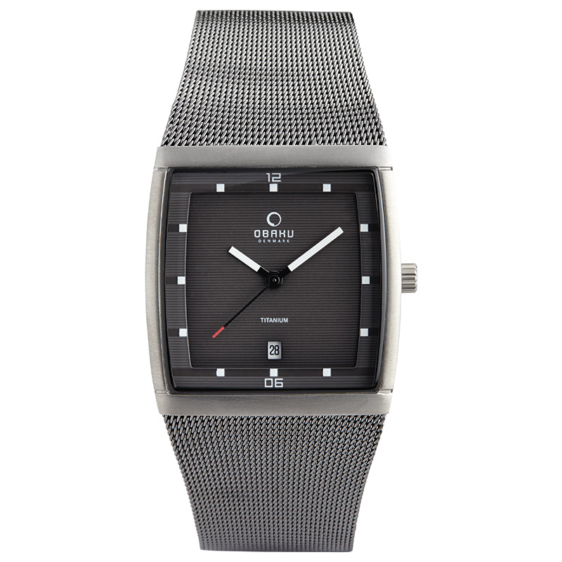 Obaku Men watch LUND - TITANIUM FRONT view