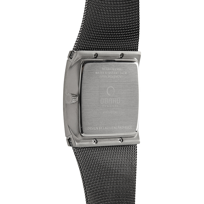 Obaku Men watch LUND - TITANIUM BACK view