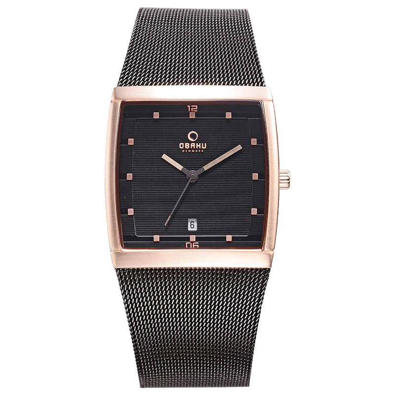 Obaku Men watch LUND - NIGHT FRONT view