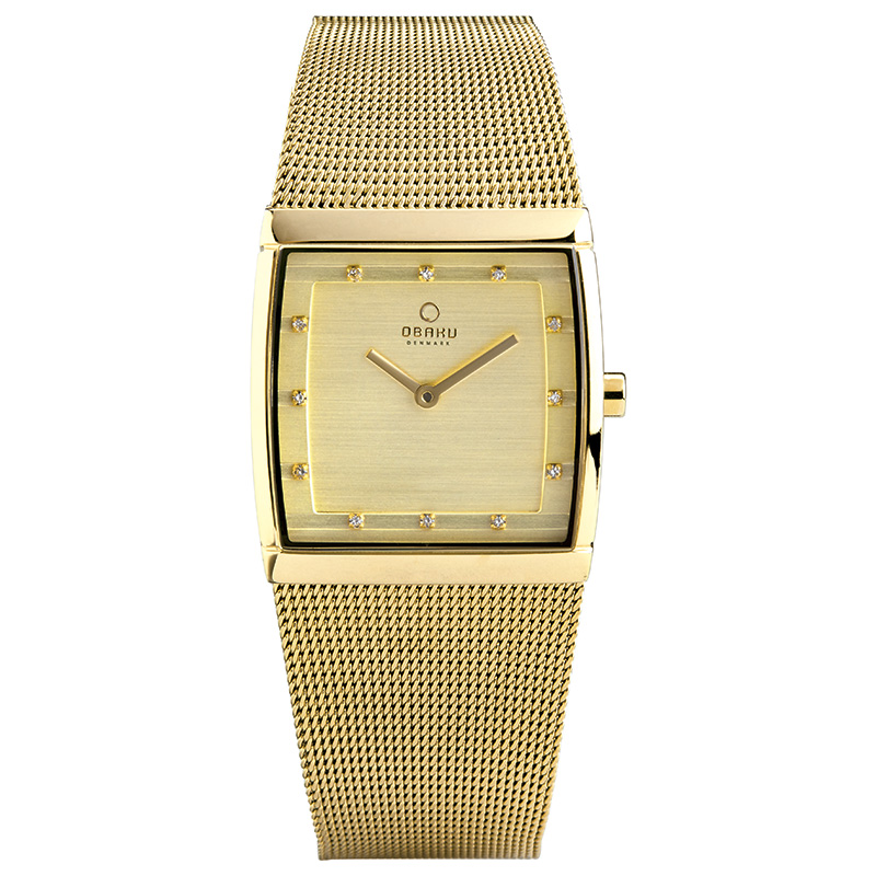 Obaku Women watch LUND LILLE - GOLD FRONT view