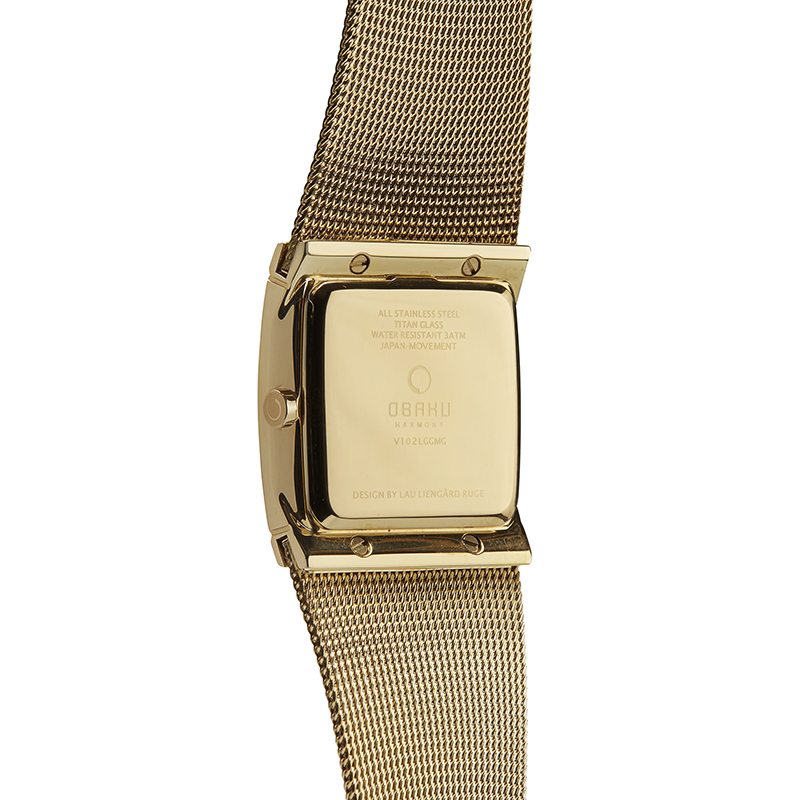 Obaku Women watch LUND LILLE - GOLD BACK view