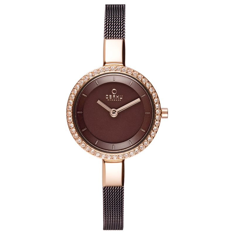 Obaku Women watch SIV GLIMT - WALNUT FRONT view
