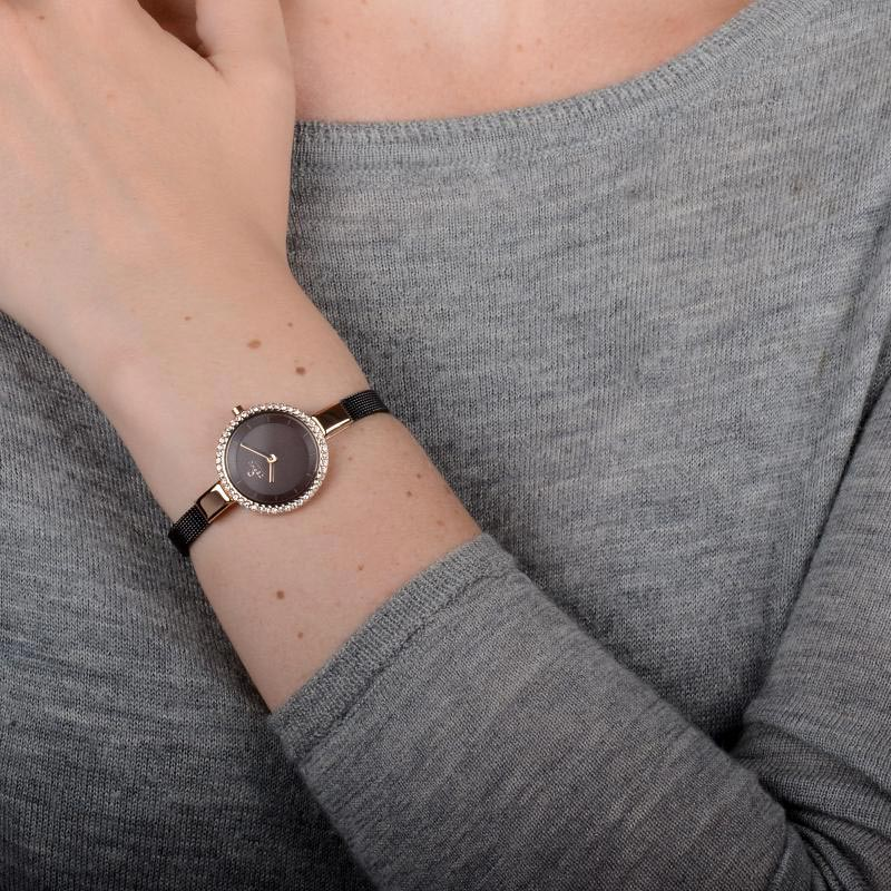 Obaku Women watch SIV GLIMT - WALNUT WRIST view