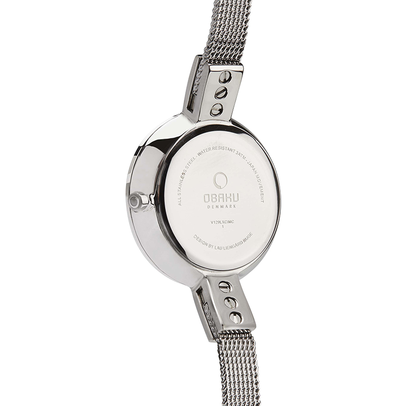 Obaku Women watch SIV - STEEL BACK view