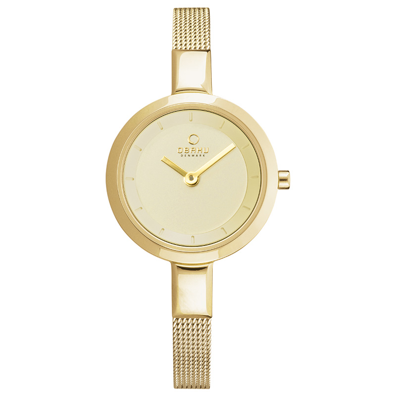 Obaku Women watch SIV - GOLD FRONT view