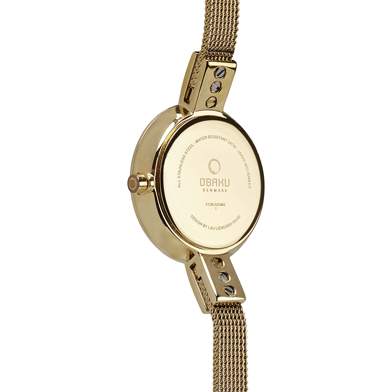 Obaku Women watch SIV - GOLD BACK view