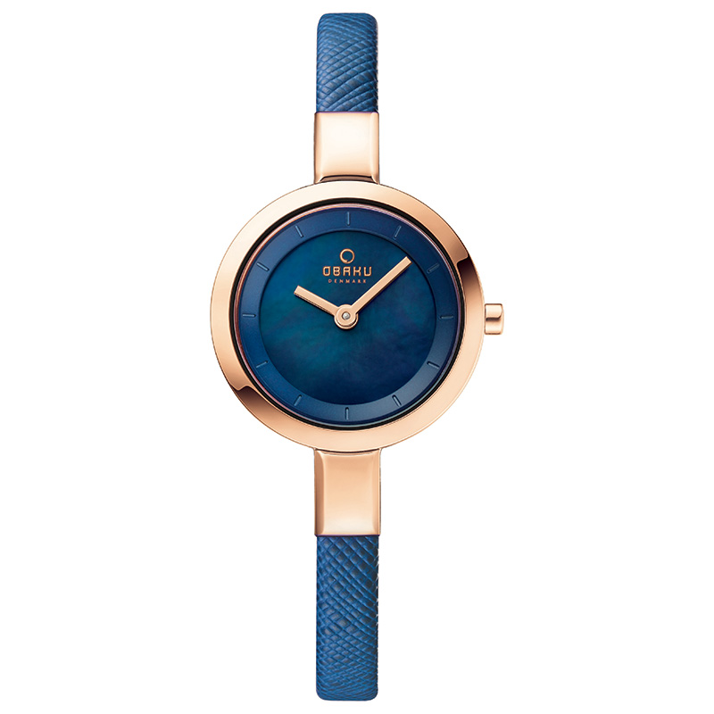 Obaku Women watch SIV - NAVY FRONT view