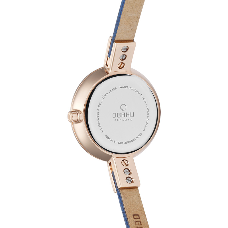 Obaku Women watch SIV - NAVY BACK view
