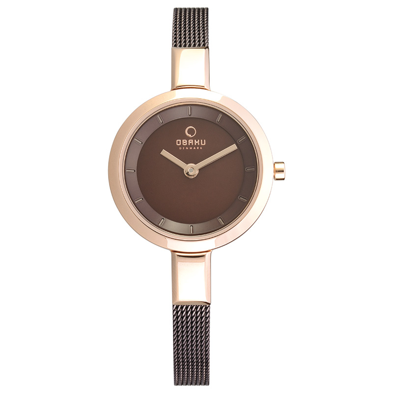 Obaku Women watch SIV - WALNUT FRONT view