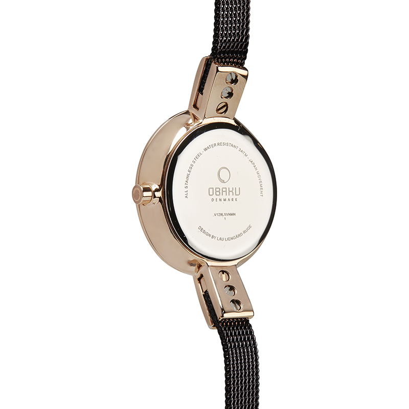 Obaku Women watch SIV - WALNUT BACK view