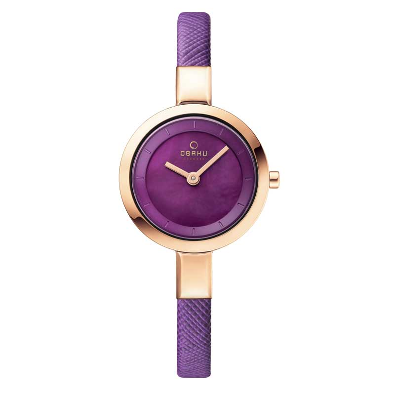 Obaku Women watch SIV - CHERRY FRONT view