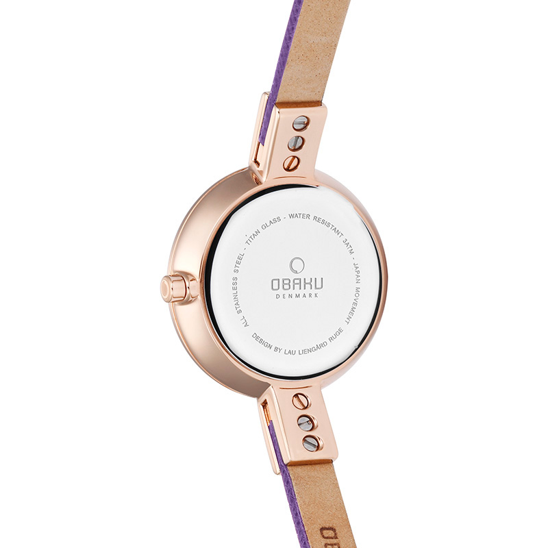 Obaku Women watch SIV - CHERRY BACK view