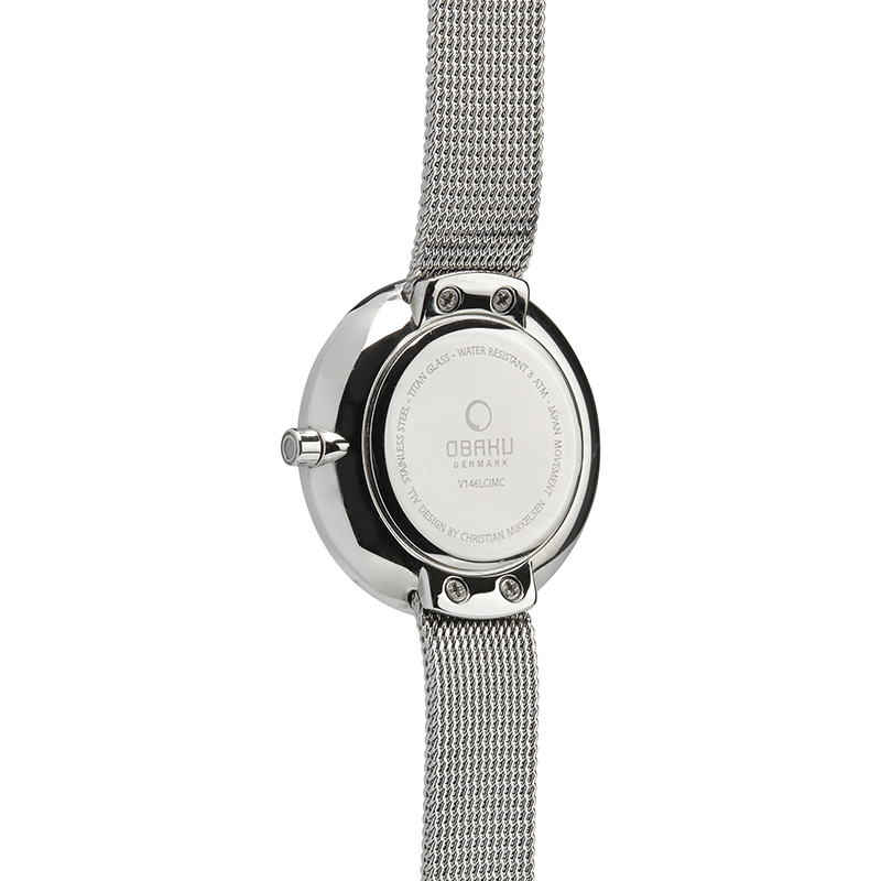 Obaku Women watch STILLE GLIMT - STEEL BACK view