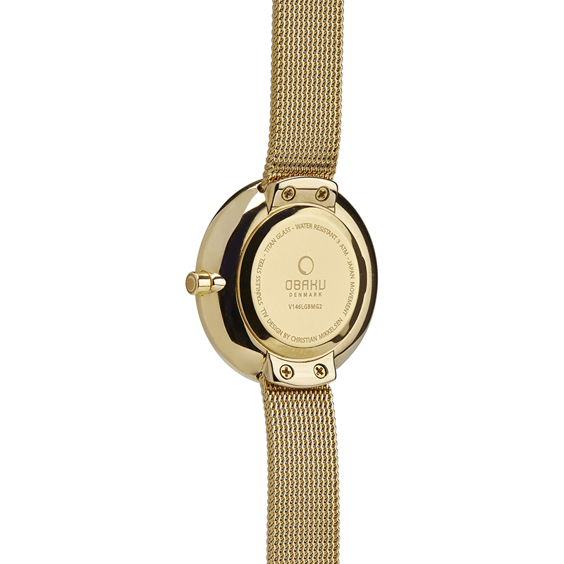 Obaku Women watch STILLE GLIMT - DIJON BACK view