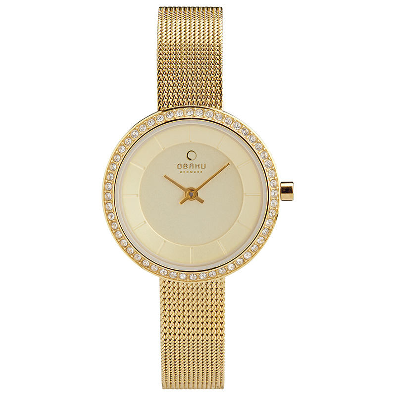 Obaku Women watch STILLE GLIMT - GOLD FRONT view