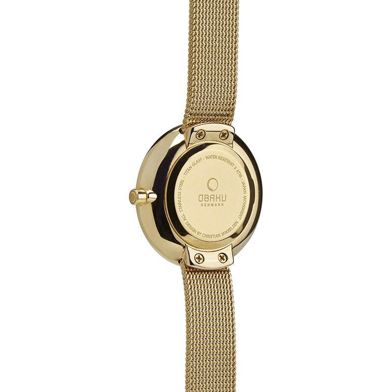Obaku Women watch STILLE GLIMT - GOLD BACK view