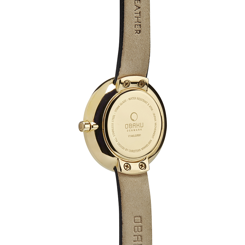 Obaku Women watch STILLE GLIMT - MOON BACK view