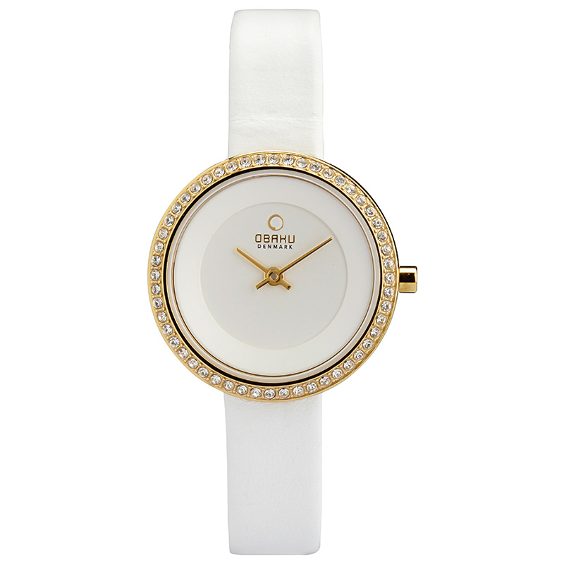 Obaku Women watch STILLE GLIMT - COTTON FRONT view