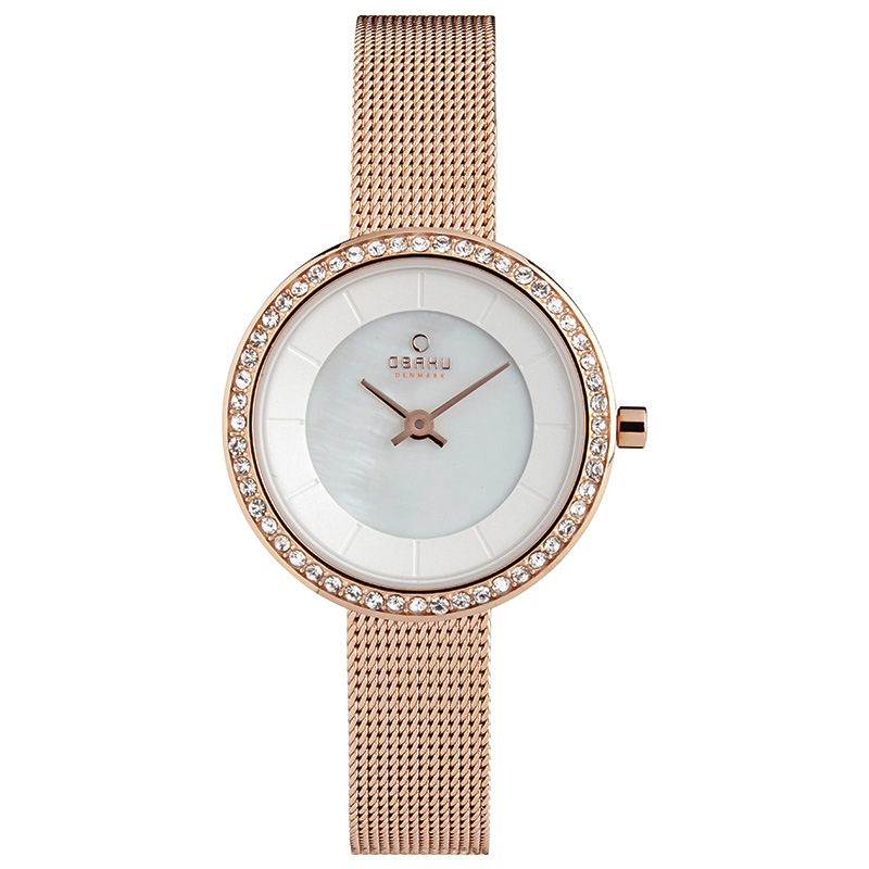 Obaku Women watch STILLE GLIMT - ROSE FRONT view