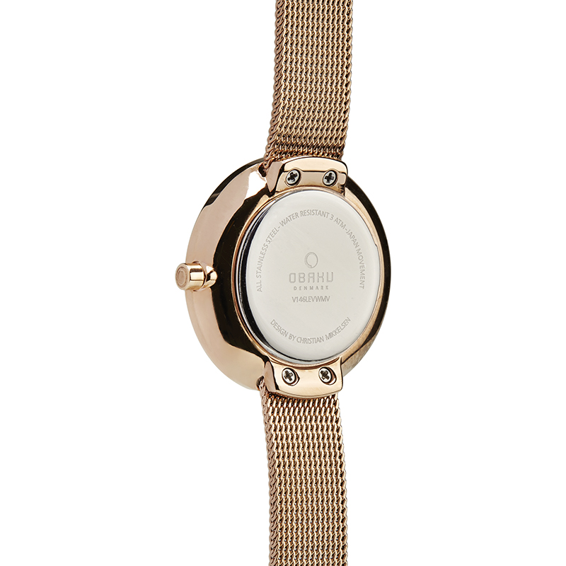 Obaku Women watch STILLE GLIMT - ROSE BACK view