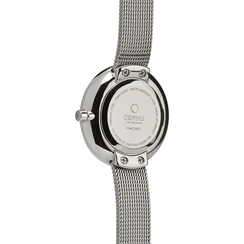 Obaku Women watch STILLE - STEEL BACK view