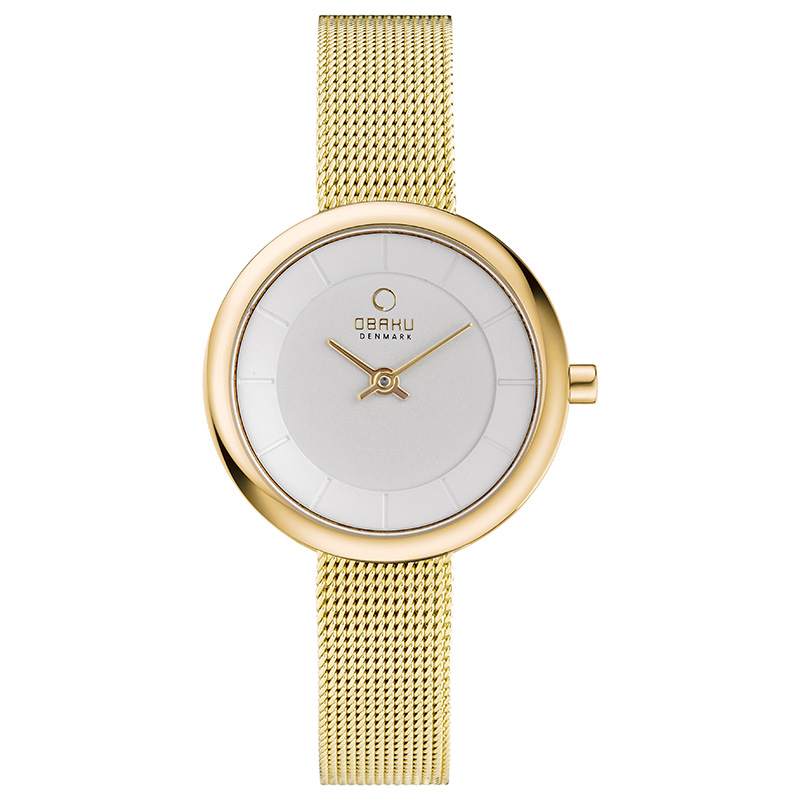 Obaku Women watch STILLE - GOLD US FRONT view