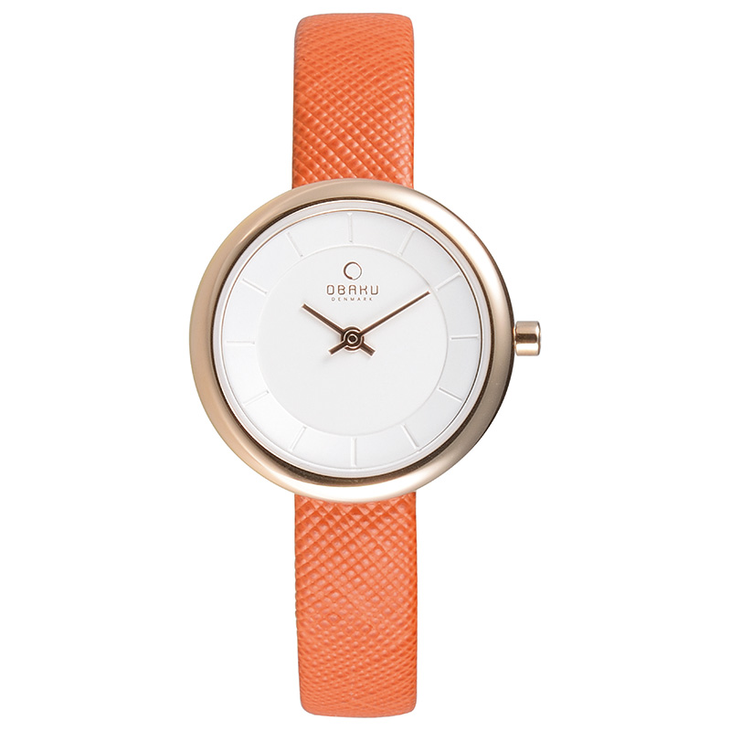 Obaku Women watch STILLE - PUMPKIN FRONT view