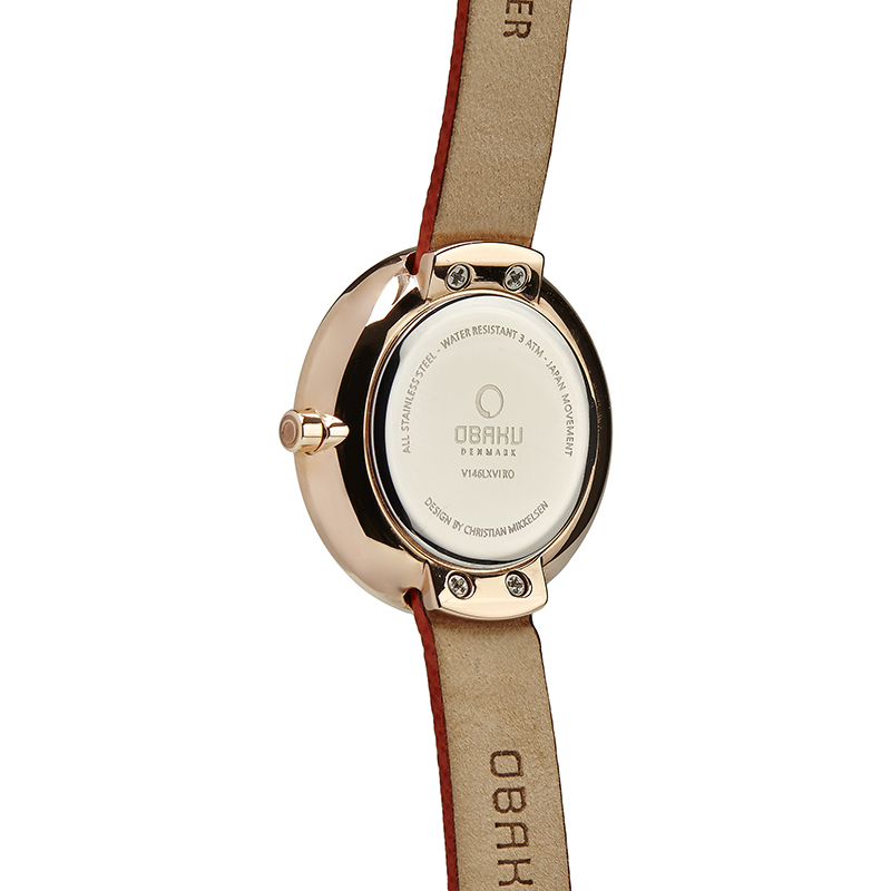Obaku Women watch STILLE - PUMPKIN BACK view
