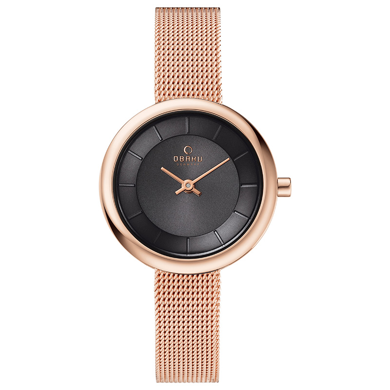 Obaku Women watch STILLE - BLUSH FRONT view