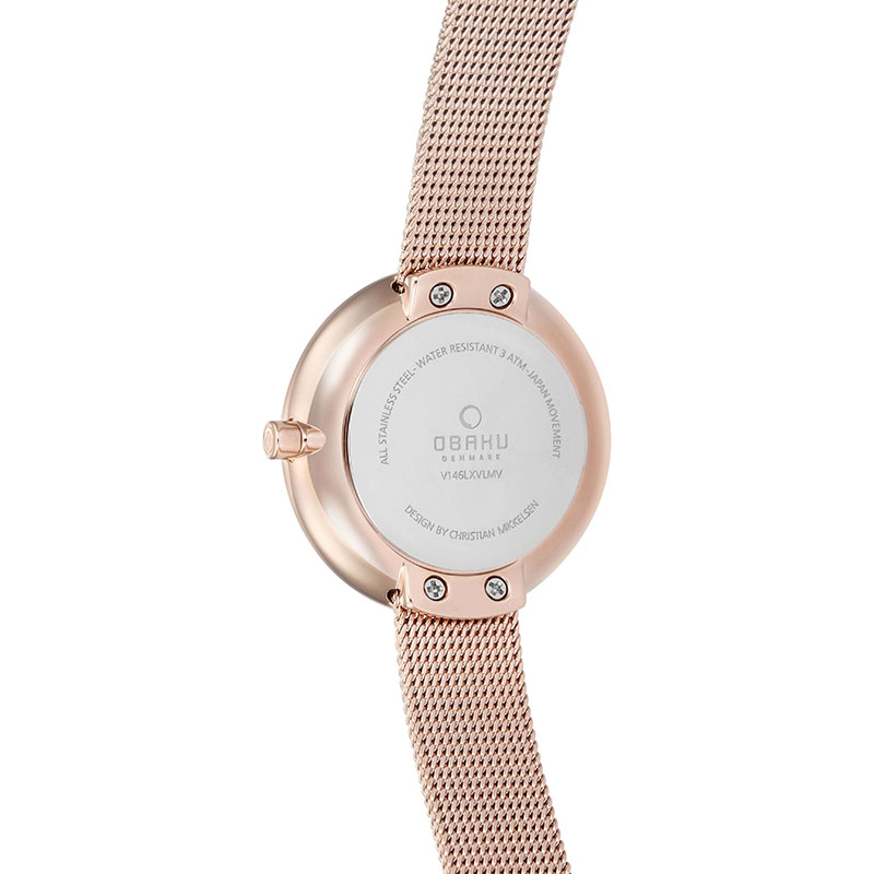 Obaku Women watch STILLE - AZURE BACK view