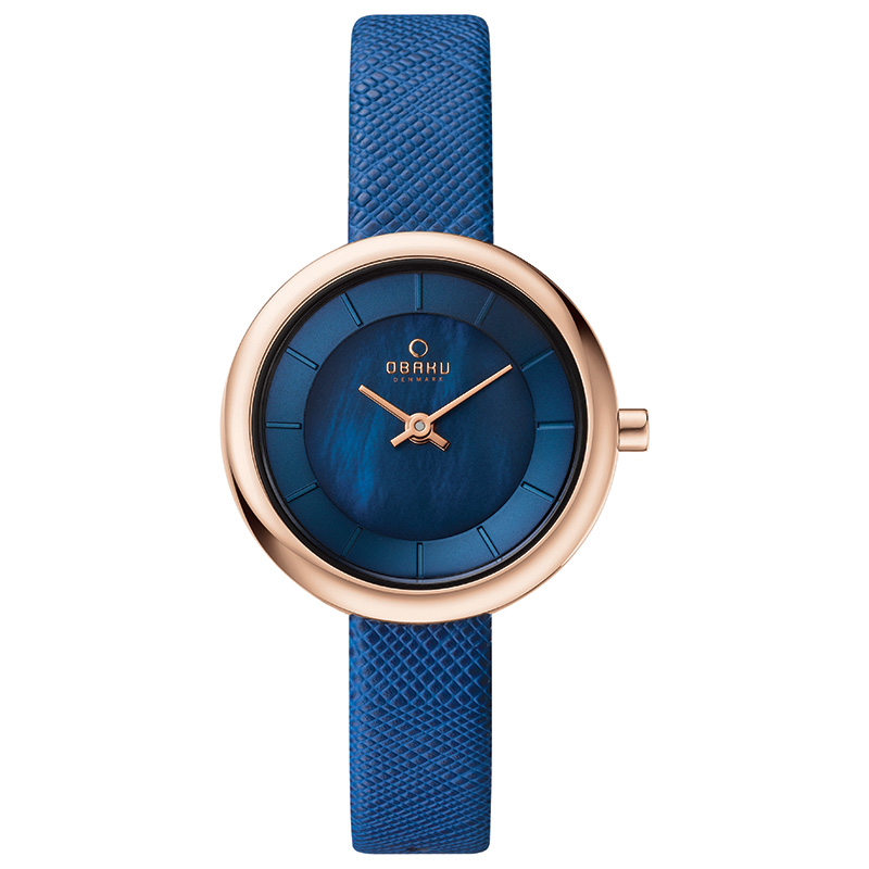 Obaku Women watch STILLE - NAVY FRONT view