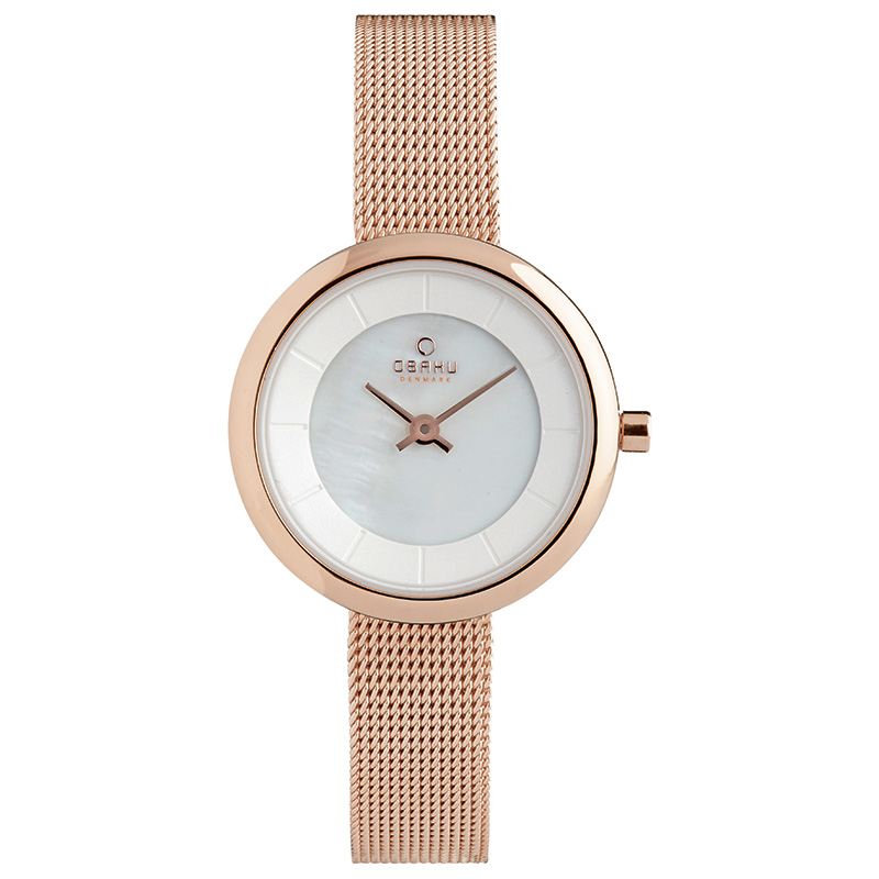 Obaku Women watch STILLE - ROSE FRONT view