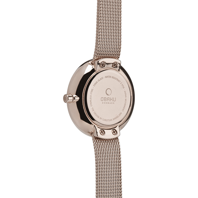 Obaku Women watch STILLE - ROSE BACK view