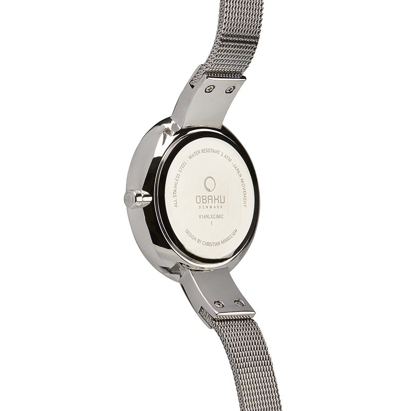 Obaku Women watch SOL - STEEL BACK view