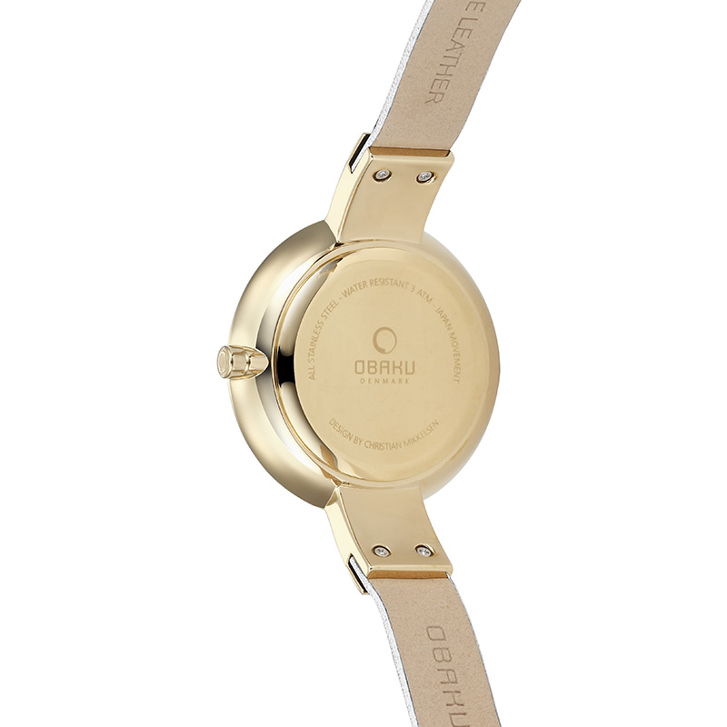 Obaku Women watch SOL - COTTON BACK view