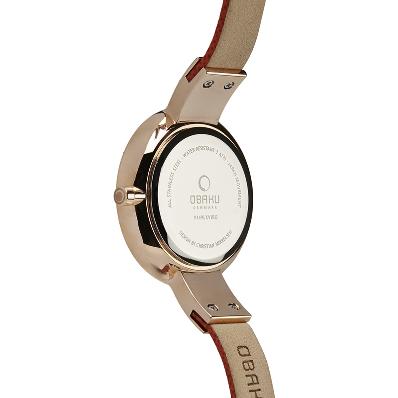 Obaku Women watch SOL - PUMPKIN BACK view
