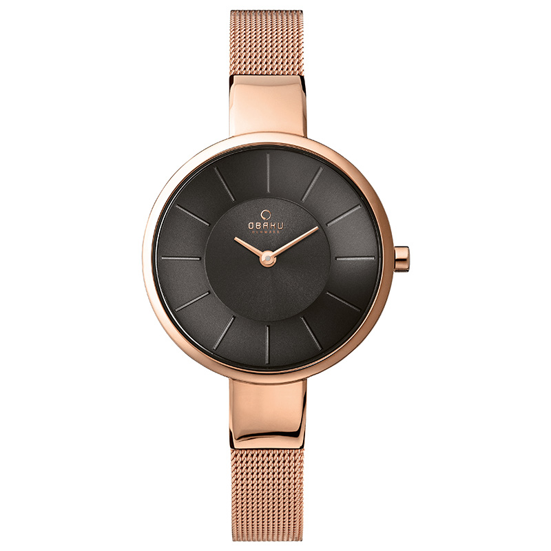 Obaku Women watch SOL - BLUSH FRONT view