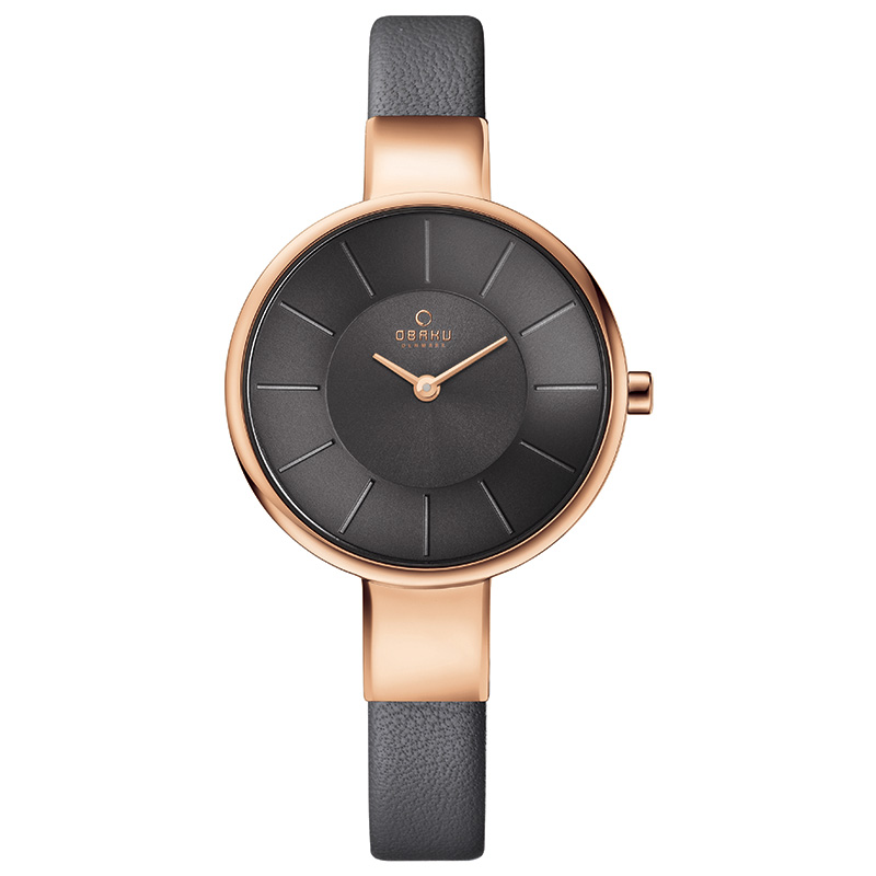Obaku Women watch SOL - PEBBLE FRONT view