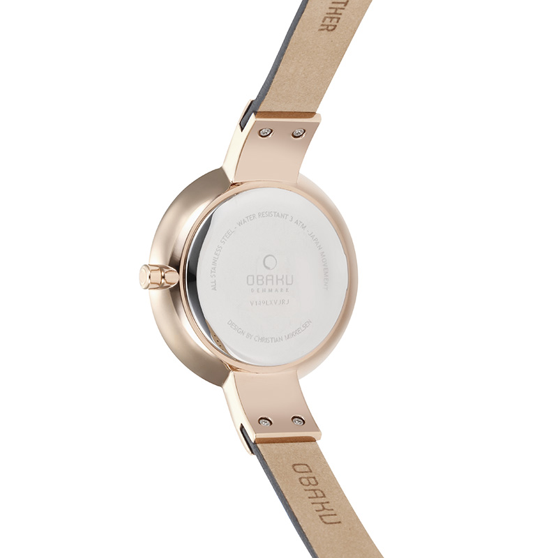 Obaku Women watch SOL - PEBBLE BACK view