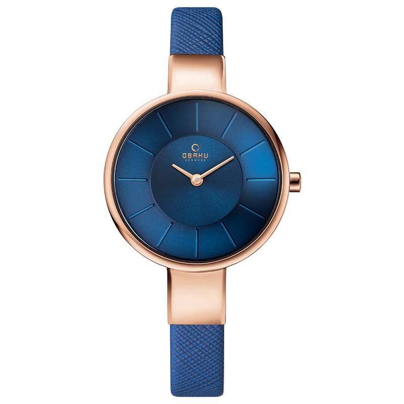 Obaku Women watch SOL - NAVY FRONT view