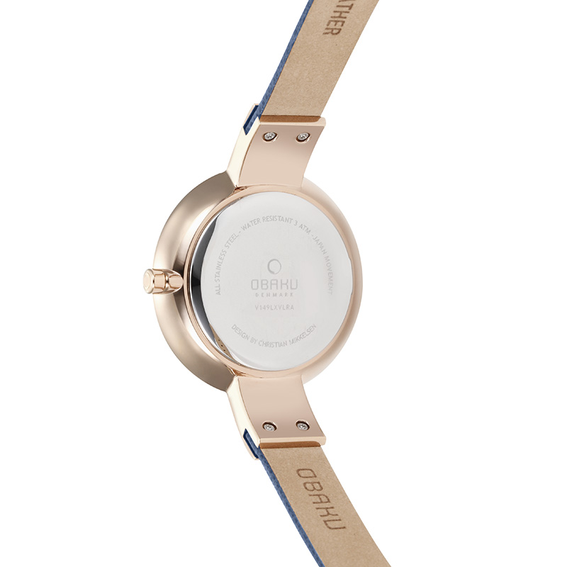 Obaku Women watch SOL - NAVY BACK view