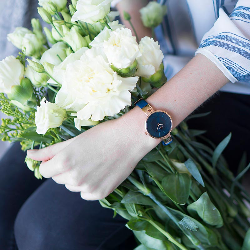 Obaku Women watch SOL - NAVY SM1 view