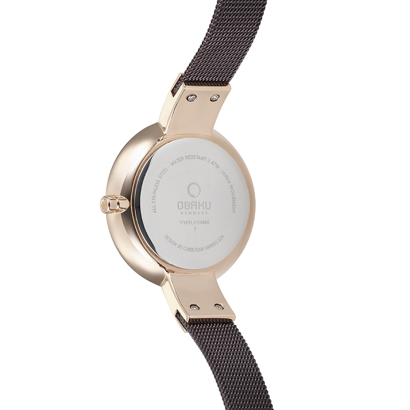 Obaku Women watch SOL - WALNUT BACK view