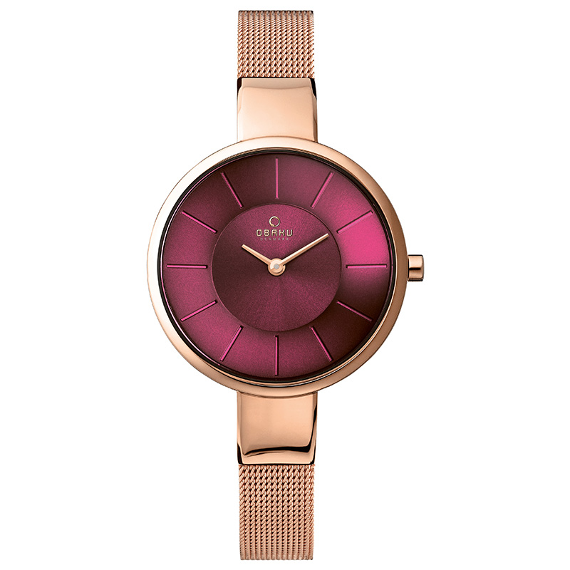 Obaku Women watch SOL - RUBY FRONT view