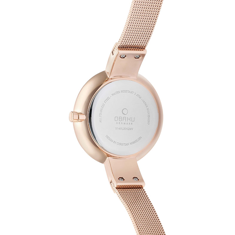 Obaku Women watch SOL - RUBY BACK view
