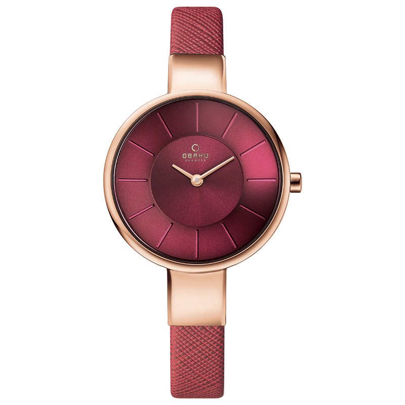 Obaku Women watch SOL - CHERRY FRONT view