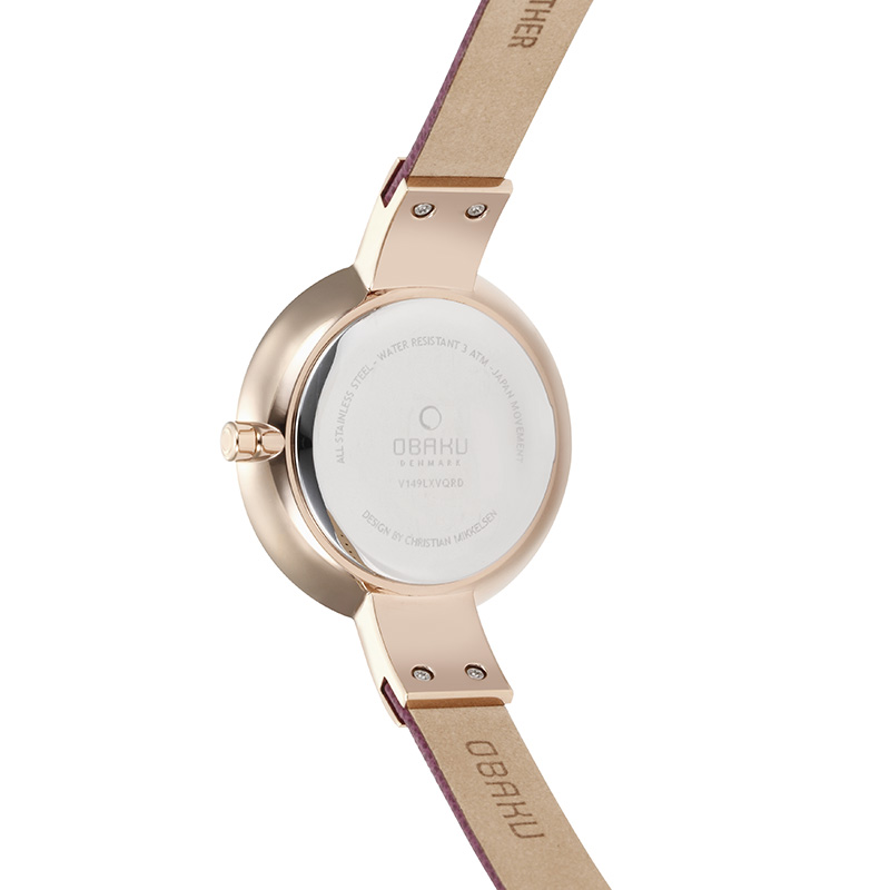 Obaku Women watch SOL - CHERRY BACK view
