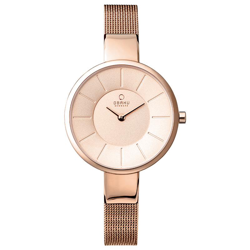 Obaku Women watch SOL - ROSE FRONT view