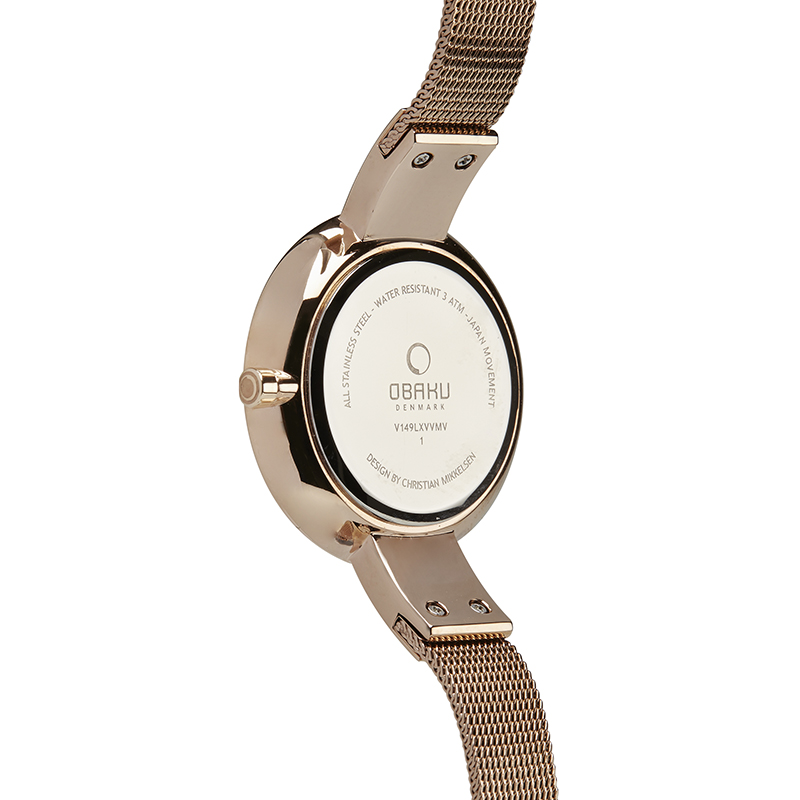 Obaku Women watch SOL - ROSE BACK view