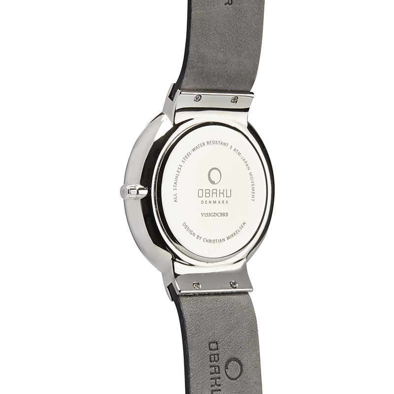 Obaku Men watch KLAR - JET BACK view